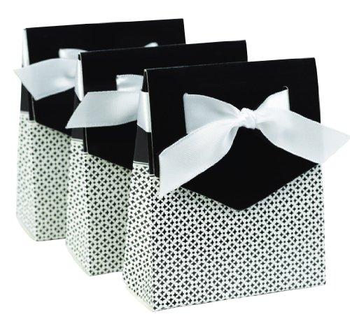 Hortense B. Hewitt Hochzeits-Zubehör Zeltboxen, 25 Stück 3-inch schwarz/weiß