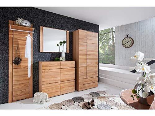 moebel-dich-auf.de BFK Möbel Collection Florida Garderobe Garderobenset mit Spiegel Wandgarderobe Schuhschrank Dielenschrank aus Massivholz