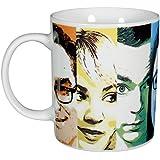 """'The Big Bang Theory 0122072Taza de café """"Faces, 320ml, porcelana, color blanco"""