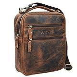 STILORD 'Mats' Borsello uomo in pelle vintage Piccola borsa a tracolla per Tablet 9,7 pollici Borsetta A5 in cuoio immagine