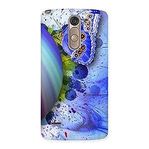 Impressive Premier Blue Shell Butterfly Multicolor Back Case Cover for LG G3 Stylus