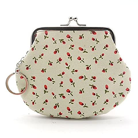 Porte-monnaie pochette sac pour rouge à lèvres, carte de crédit, casque, clés, portable pour femme, beige, Taille unique