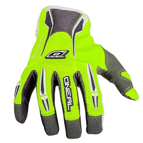 O'Neal Revolution MX Handschuhe Neongelb Motocross Offroad Enduro MTB DH FR, 0384R-4, Größe Large (Geformt Daumen)