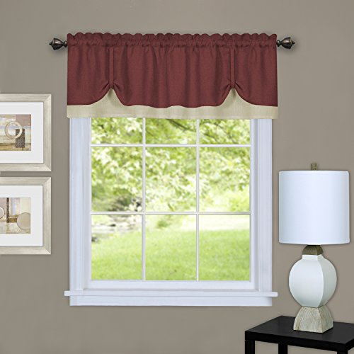 Achim home furnishings darcy valance, 58 by 14
