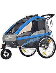 Qeridoo Jumbo 2Kinder-Fahrradanhänger Fahrrad (2-Sitzer)