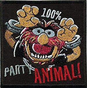 Party Animal Muppets Punk Heavy Metal Badge bestickt Patch Aufnäher oder zum Aufbügeln 11cm (Muppets-party Animal)