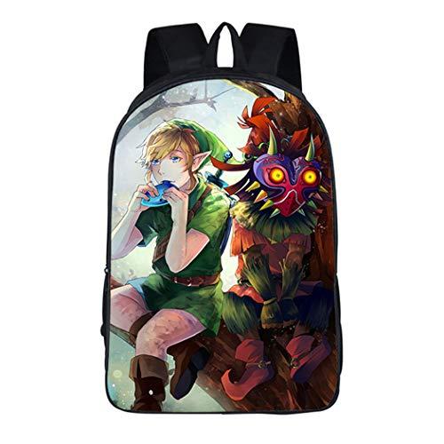 Cosstars The Legend of Zelda Spiel Bilddruck Rucksack Backpack Büchertasche Schultasche für Schüler Jungen Mädchen ()