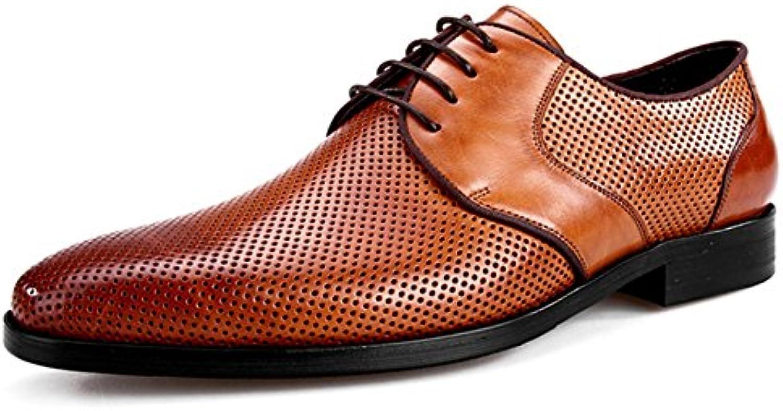 MERRYHE Herren Mesh Derby Fuumlr Sommer Echtem Leder Lace Ups Schuhe Formelle Kleidung Schuh Fuumlr Business Hochzeit
