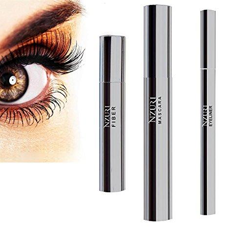 Beste Wimperntusche Empfindliche Augen (Mascara 3D mit Fibre-Gel Eyeliner Pencil-- Premium-Formel mit der höchsten Qualität nicht-toxischen und hypoallergen natürlichen Zutaten - Unsere besten zusammen mit Faser-Wimperntusche 3d)
