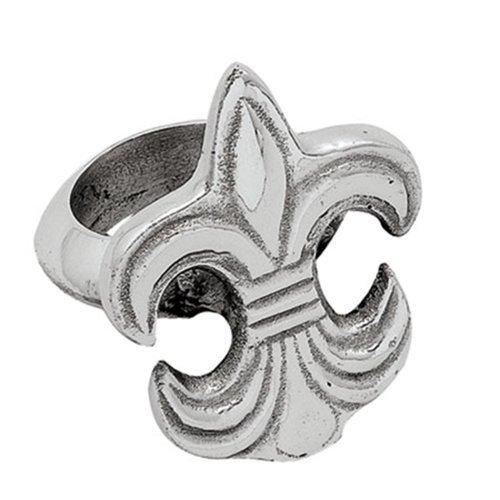 Elegante Fleur de Lis Serviette Ringe 4Stück (Fleur Lis-serviette Ringe De)