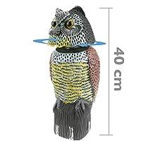 PrimeMatik - Ahuyentador de Aves Tipo Estatua búho con Ojos Reflectantes 40cm Hembra