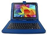 Etui clavier AZERTY bleu pour tablettes Samsung Galaxy Tab S 10.5' (SM-T800 / T805),...