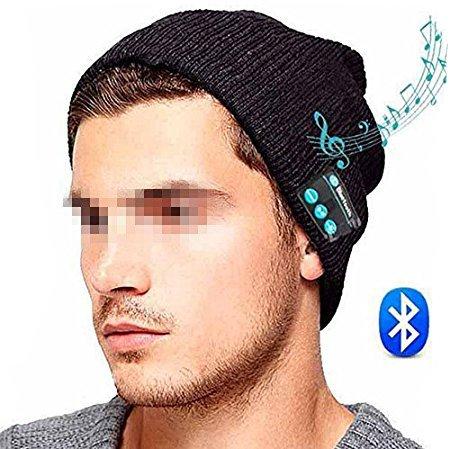 sunnior Bluetooth Musique en tricot bonnet avec écouteurs écouteurs Retrait