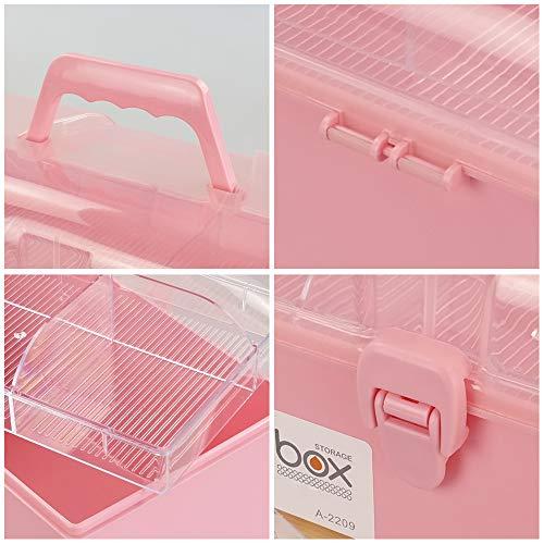 51R0ENnsu5L - Rinboat Caja Botiquín Medicamentos de Plástico para Primeros Auxilios, Color Rosa, 1 Unidad
