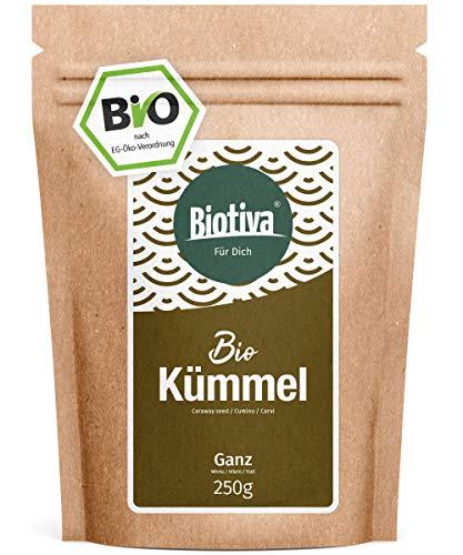 Kümmel ganz Bio (250g) - 100% Bio-Premiumqualität - Tee (Babytee) oder Wickel - Intensiv im Duft und Geschmack - Bauch- und Magenbeschwerden - Abgefüllt und kontrolliert in Deutschland (DE-ÖKO-005)