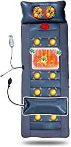 DOLA Matelas De Massage Multifonctionnel Complet du Corps, Coussin De Massage À Pétrissage par Vibration avec Sélection De 9 Modes Et Minutage À 3 Vitesses pour Le Bureau À Domicile1