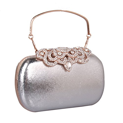 Hartbox hand Tasche Leder Tasche einfach Pu diamond Hartbox solide Tasche kleine Tasche am Abend Party Dress black
