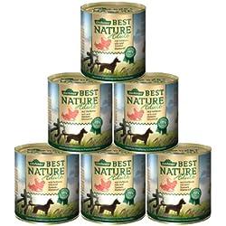 Dehner Best Nature Hundefutter Adult, Lachs und Geflügel mit Reis, 6 x 800 g (4.8 kg)