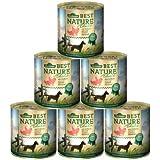 Dehner Best Nature Hundefutter, Adult Lachs und Geflügel mit Reis, 6 x 800 g (4.8 kg)