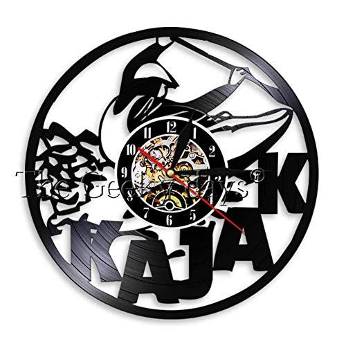 SSCLOCK Kayaking Time Kayak WAL Clock Paddling Vintage Vinyl Record Reloj de Pared Rafting Decoración de Pared Diseño Moderno Regalos Deportivos para kayakistas