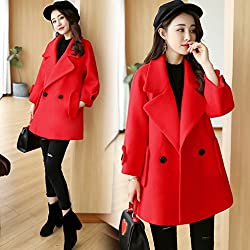 MO Autumn and Winter Coat of Women in the Long Paragraph Was Thin Loose Large Size Cloak-Style Long-Sleeved Coat by MO