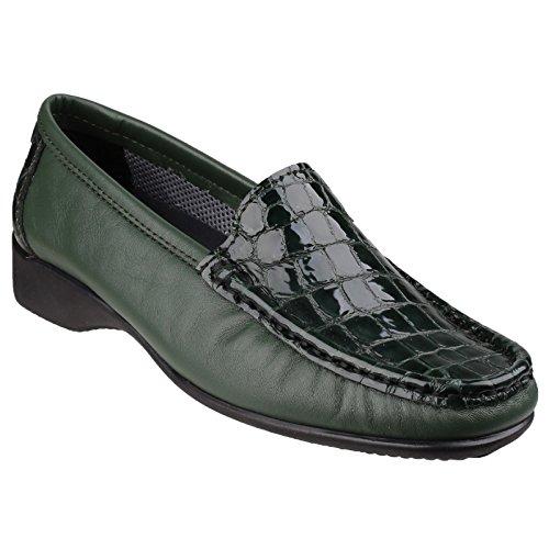 Cotswold Upton - Mocassins en cuir - Femme Vert