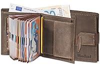 Woodland - migliore qualità premium  molto spazio banconote da 100 euro in bolletta  compartimento Con particolare, chiusura elastico  18 tasche trasparenti di plastica per carte di credito con maniglia e vertärktem supplementare bordi Sims 3...