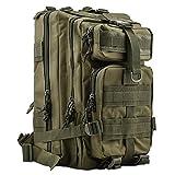 HUKOER Multifunktionale Rucksack-30L Wasserdichte Outdoor Sports Trekkingrucksäcke-perfekte Wanderrucksäcke Sportrucksack Reisetaschen für Sport Liebhaber (Armeegrün)
