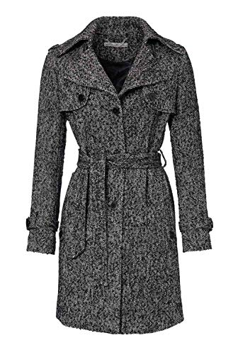 d7f4332fec2 Ashley Brooke - Cappotto - Trench - Manica Lunga - Donna Nero-Bianco 50