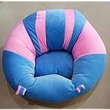 SANA Premium Quality Soft Plush Chair/seat For Baby Safety Sitting/Soft Soft Plush Chair For Kids Birthday (Blue & Pink)