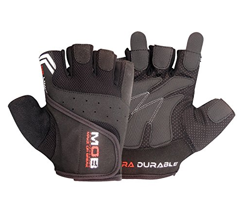 Make or Break GRIP GEL PADDED GYM LEATHER GLOVES CYCLING CYCLE BIKE TRAINING FITNESS SPORTS