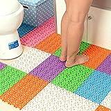 Candy Colour Plastic Bath Mats/Anti-Sip Bathroom Massage Carpet