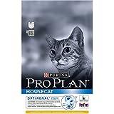 Pro Plan House Cat Croquettes Haut de Gamme pour le Bien-Etre des Chats Vivant Principalement à l'intérieur Pack de 3 Kg