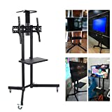 Universal Mobile TV Cart with Adjustable Stand Mount Fits 32 to 65 inches LCD LED Flat Panel Screen