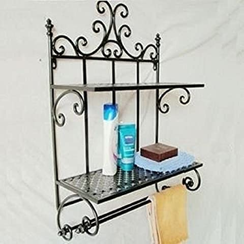 EIK Ferro battuto bagno asciugamano rack sapone