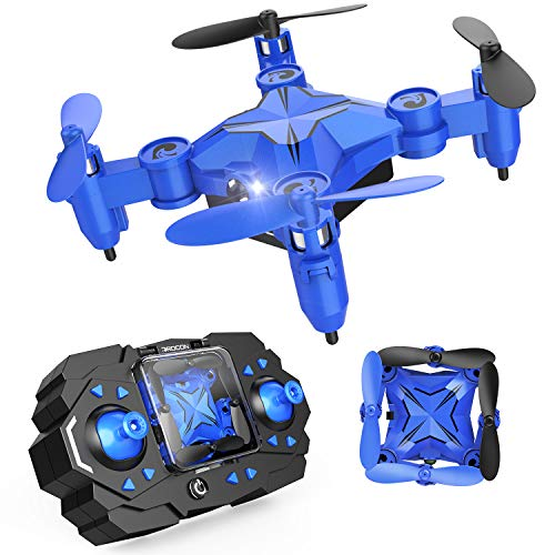 DROCON Scouter Foldable Mini RC Drone for Kids Quadcopte with Altitude Hold 3D Flips and Headless Mode Easy Fly for Beginners, Blue(Update)