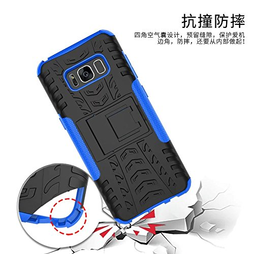 YHUISEN Galaxy S8 Plus Case, Hyun Pattern Dual Layer Hybrid Armor Kickstand 2 In 1 Shockproof Case Cover für Samsung Galaxy S8 Plus ( Color : Blue ) Red