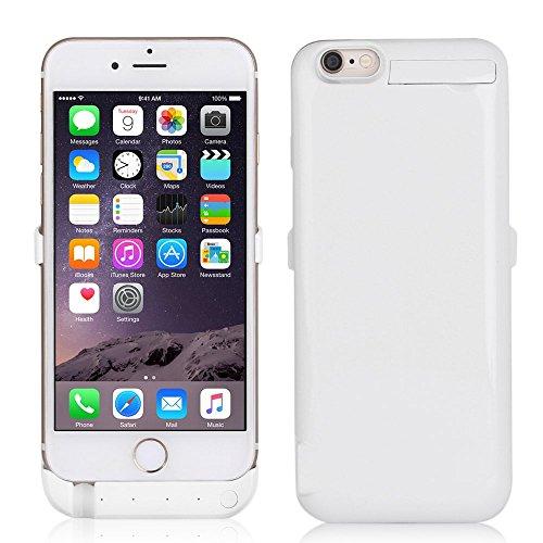 Mbuynow iPhone 6 / iPhone 6s Power Case Batteria Maggiorata di 10000mAh Esterna | Power Bank 10000mAh Integrata nella Custodia protettiva per iPhone 6 / iPhone 6s (Nero) Bianco