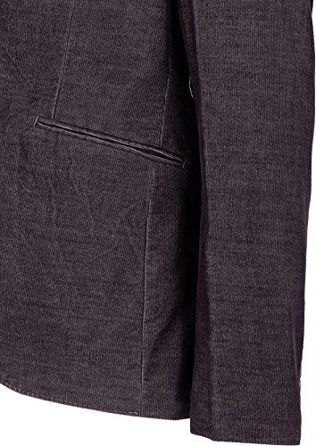 YAKE by S.O.H.O. NEW YORK Sakko Herren Slim Fit - Blazer Herren Sportlich - Cord Jacke, Brighton Dunkellila_002