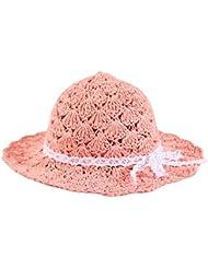 La Haute Women & niños Moda Verano Sombrero de Playa Plegable Floppy paja sol sombrero, mujer, Adult Size Color Pink
