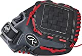 Best Baseball Gloves - Rawlings Youth Players Series Glove, Black/Grey/Red, 11