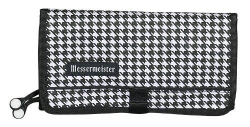 Messermeister-10Hüllen Gepolsterte Gadget Messer Rolle, schwarz, Polyester, schwarz/weiß, 10-Pocket Messer Storage Roll