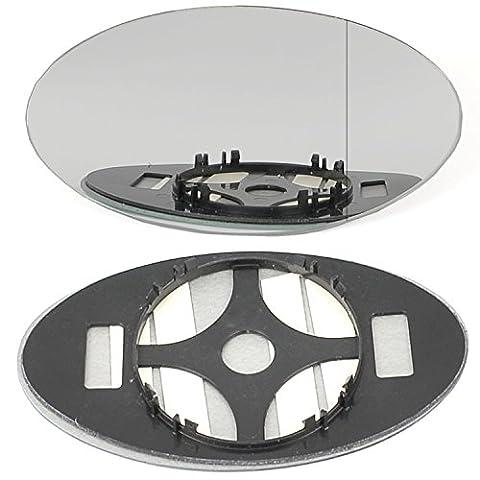 aile Droit coté conducteur de porte à clipser pour miroir en verre pour Mini Cooper One 2001–2006Grand Angle