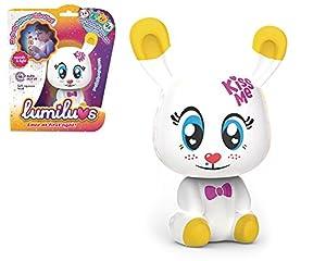LUMILUVS TIgerHead Toys, Ltd. - Conejo Mascotas Electrónicas con Luz y Sonidos. , Color Blanco (59353)