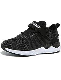 09fb4673489fb SC Zapatillas de Deporte Niños Ligeras y Transpirables Running Shoes Niño y  Niña Velcro Trainers