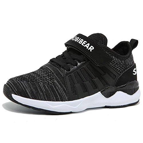 Kinder Sneaker Jungen Mädchen Laufschuhe Unisex-Kinder Outdoor Sport Schuhe, Gr.-27 EU=28 CN, Schwarz (Sports Schuhe Schwarz)