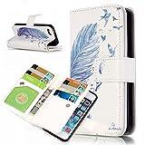 Coque pour Apple iPhone 5C ,Housse en cuir pour Apple iPhone 5C ,Ecoway 3D peint en...