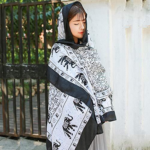 Yojgytnj le signore della moda di stile etnico versano sciarpe decorative, teli mare con teli di scialle per esterno, a1_180 * 100cm