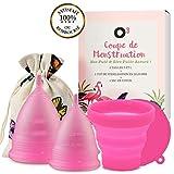 O³ Coupe Menstruelle taille 2, cup menstruelle 2 tailles S et L en Silicone, Coupe...