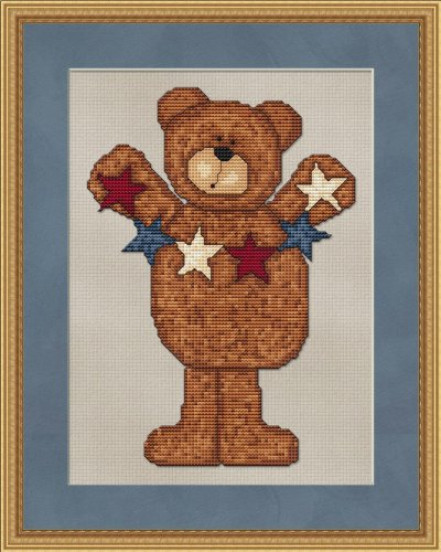 Patriotic Bear with Banner Cross Stitch (English Edition) -